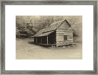 Old Cabin Framed Print by Todd Bielby