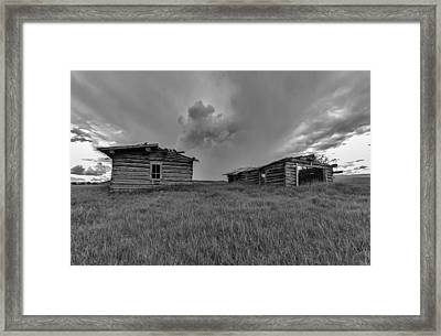 Old Cabins Resting Framed Print by Stellina Giannitsi