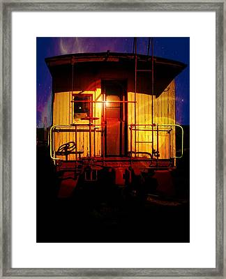 Framed Print featuring the photograph Old Caboose  by Aaron Berg
