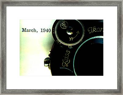 Framed Print featuring the photograph Old Camera by Michael Dohnalek