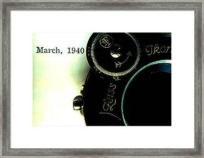 Old Camera Framed Print by Michael Dohnalek