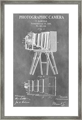 Old Camera Patent Framed Print
