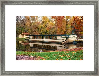 Old Canal Boat Framed Print