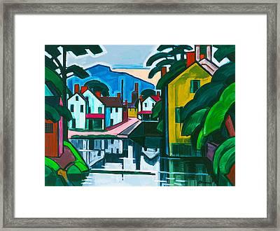 Old Canal Port Framed Print