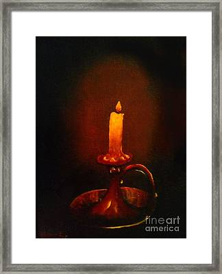 Old Candle Stick Painting Framed Print