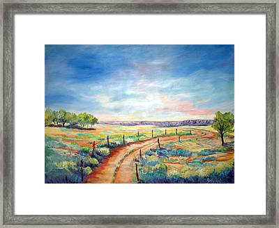 Old Canyon Road Framed Print by Judy Hopkins