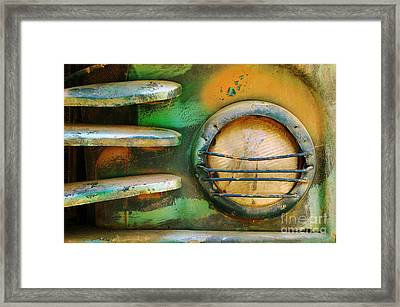 Old Car Headlight Framed Print by Carlos Caetano