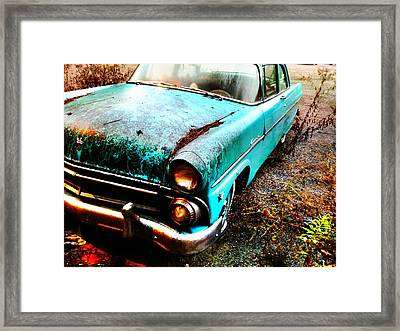 Old Car Framed Print by Janice Spivey