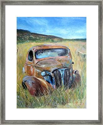 Old Car Framed Print by Jieming Wang