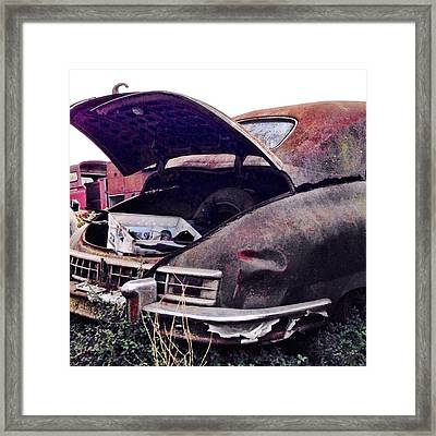 Old Car Framed Print by Julie Gebhardt
