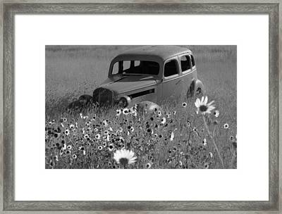 Framed Print featuring the photograph Old Car by Leticia Latocki