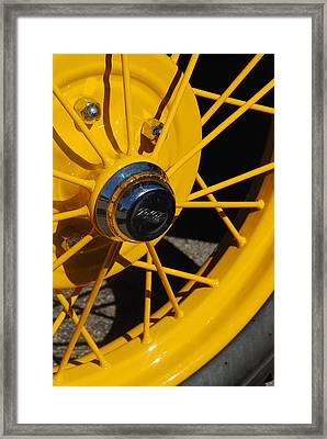Old Car Wheel Framed Print by T C Brown