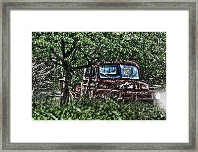 Old Car With Ghost Driver Framed Print by Dan Friend