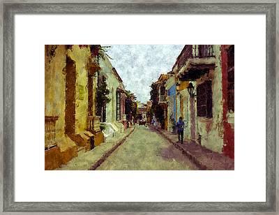 Old Cartagena 1 Framed Print by Kurt Van Wagner