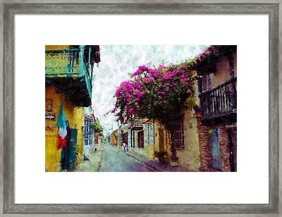 Old Cartagena 2 Framed Print by Kurt Van Wagner