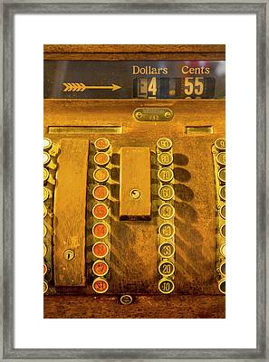 Old Cash Register Decor At The Historic Framed Print by Chuck Haney