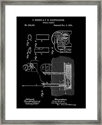 Old Casket Patent Framed Print by Dan Sproul