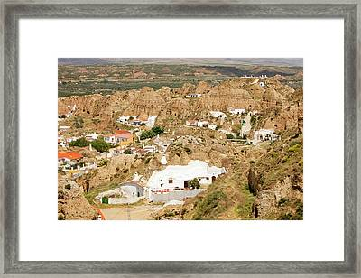 Old Cave Houses In Guadix Framed Print