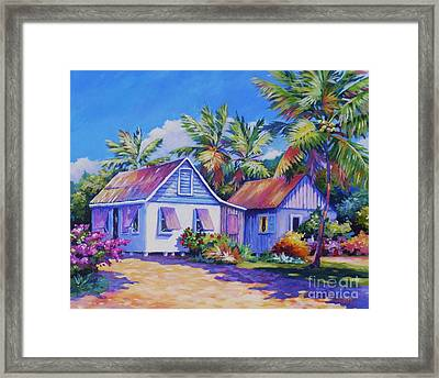 Old Cayman Cottages Framed Print by John Clark