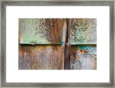 Old Cedar Shingles 1740 Framed Print by Bob Hills