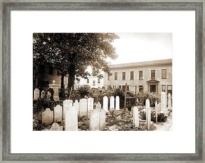 Old Cemetery, St. Michaels, Charleston Framed Print by Litz Collection