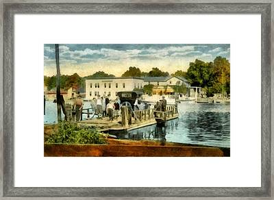 Old Chain Ferry Saugatuck Michigan Framed Print by Michelle Calkins
