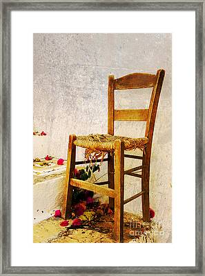Old Chair Framed Print by Christos Dimou