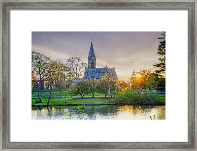 Old Chapel At Sunset Framed Print by Donna Doherty