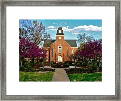 Old Chapel In Spring Framed Print by Jean Wright