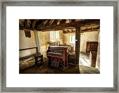 Old Chapel Organ Framed Print by Mal Bray