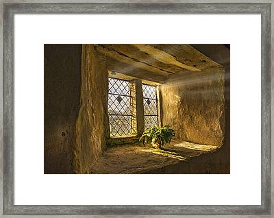 Old Chapel Window Sill Framed Print by Mal Bray