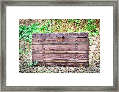 Old Chest Framed Print by Tom Gowanlock