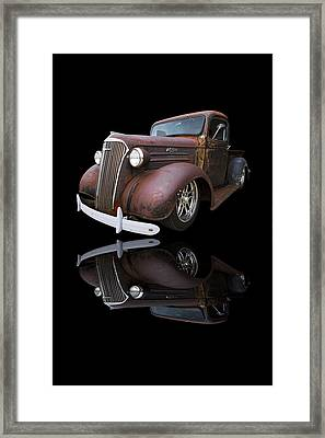 Old Chevy Framed Print by Debra and Dave Vanderlaan