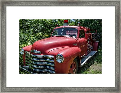 Old Chevy Fire Engine Framed Print