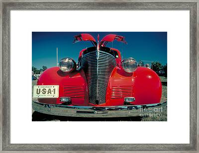 Old Chevy Framed Print by Jerry McElroy