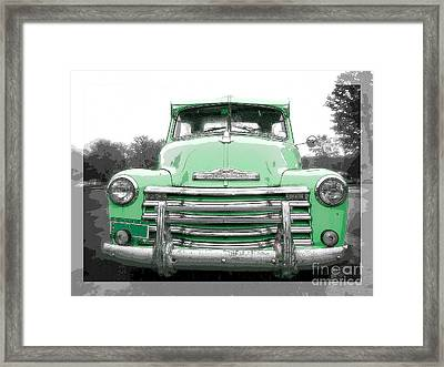 Old Chevy Pickup Truck Framed Print by Edward Fielding