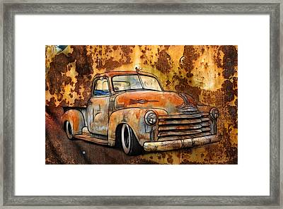 Old Chevy Rust Framed Print by Steve McKinzie