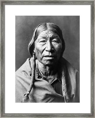 Old Cheyenne Man Circa 1910 Framed Print by Aged Pixel