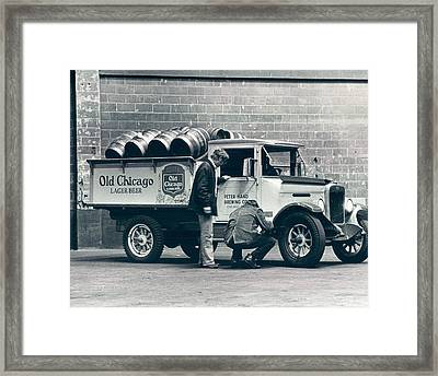 Old Chicago Beer Vintage Truck Delivery Framed Print by Retro Images Archive
