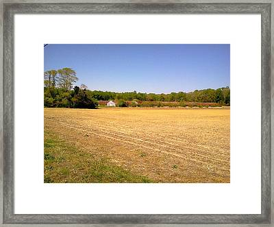 Old Chicken House On A Farm Field Framed Print