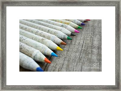 Old Chinese Pencil Framed Print by Aged Pixel