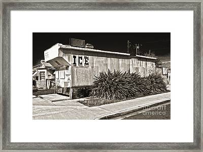 Old Chino Ice House - Sepia Toned Framed Print by Gregory Dyer