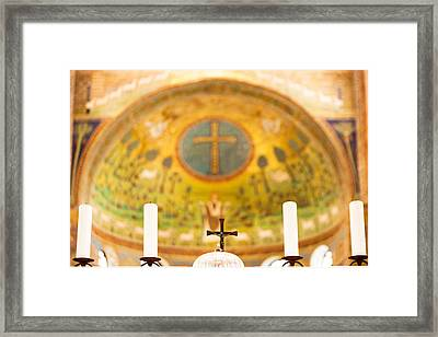 Old Church Alter In Umbria Framed Print by Susan Schmitz