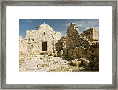 Old Church Anogyra  Framed Print by Jeremy Voisey