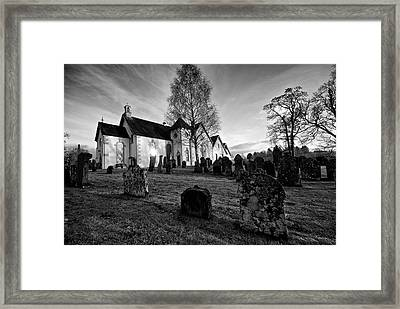 Framed Print featuring the photograph Old Church At Drymen by Stephen Taylor