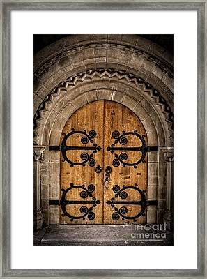 Old Church Door Framed Print by Edward Fielding