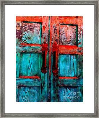Old Church Door Handles 2 Framed Print