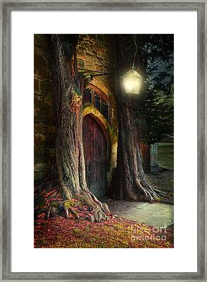 Old Church Door Framed Print by Jill Battaglia