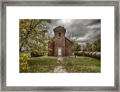Old Church In Fall Framed Print