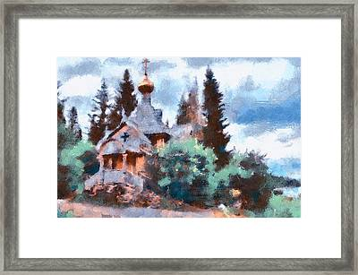 Old Church In Forest Framed Print by Yury Malkov